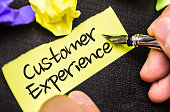 Customer Experience note sign