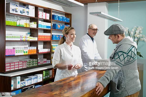 Customer In Drugstore, Munich, Bavaria, Germany