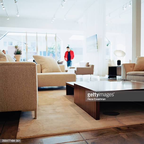 Customer in furniture shop (soft focus)