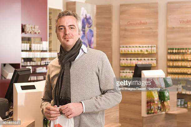 Customer In Pharmacy, Munich, Bavaria, Germany