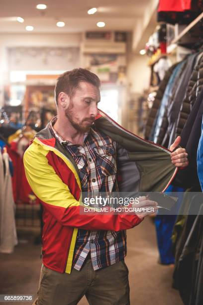 Customer in sports store