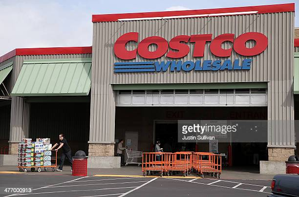 A customer leaves a Costco store on March 6 2014 in Richmond California Costco Wholesale reported a 15 percent drop in secnd quarter earnings with...