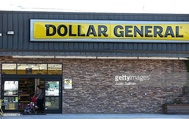 A customer leaves a Dollar General store on March 12 2015 in Vallejo California Dollar General Stores Inc announced plans to open over 700 new stores...