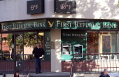 A customer leaves a First Republic Bank office on December 3 2013 in San Rafael California According to the Federal Deposit Insurance Corp the number...