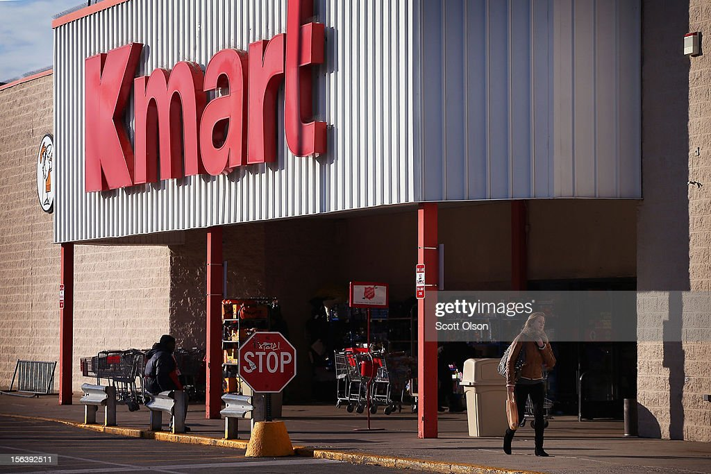 A customer leaves a Kmart store on November 14, 2012 in Chicago, Illinois. Sears Holdings (SHLD), which owns Kmart, will report 3rd quarter earnings tomorrow afternoon. After a lackluster 2011 holiday season the retailer announced plans to close 120 Sears and Kmart stores.