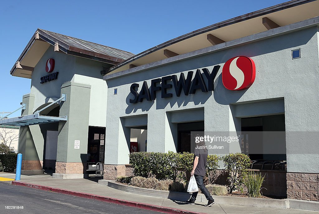 A customer leaves a Safeway store on February 21, 2013 in San Rafael, California. Safeway, the second largest grocery chain in the U.S., reported a 13 percent increase in fourth- quarter profit with earnings of $244 million, or $1.02 a share compared to $215.6 million, or 67 cents, one year ago.