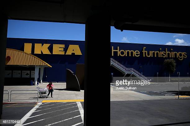 A customer leaves an IKEA store on June 26 2014 in Emeryville California Swedish furniture retailer IKEA announced that it plans to raise the minimum...