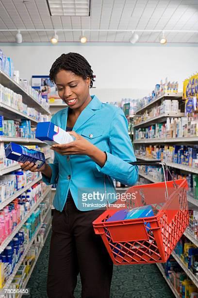 Customer looking at medications