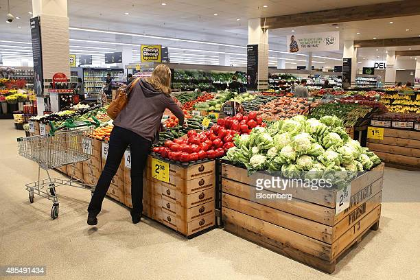 A customer looks at vegetables at a Woolworths Ltd supermarket in Sydney Australia on Thursday Aug 27 2015 Woolworths Australias largest supermarket...