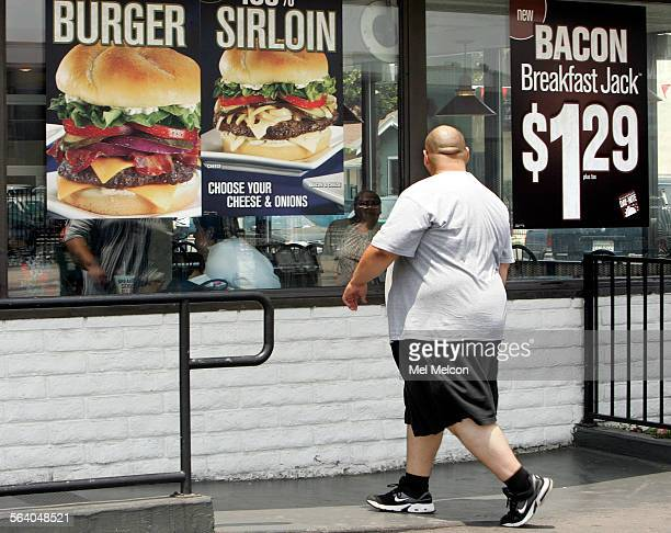 A customer makes his way into a Jack In The Box restaurant on Figueroa St in South Los Angeles on Friday afternoon July 6 2007 The Los Angeles City...