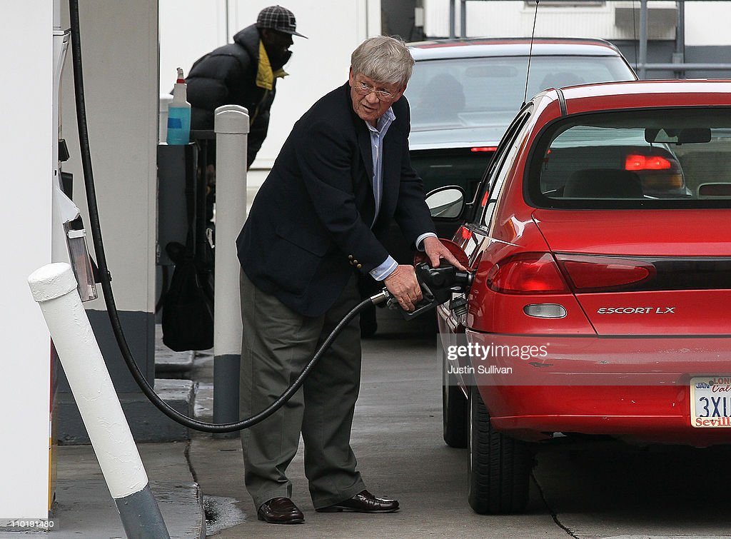 A customer pumps gas into his car at a Shell gas station on March 16, 2011 in San Francisco, California. Wholesale prices in the United States spiked last month with a 3.3% rise in energy prices and a 3.9% jump in food prices.