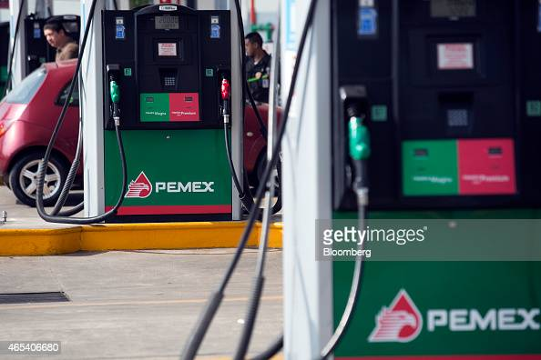 A customer purchases fuel at a Petroleos Mexicanos gas station in Mexico City Mexico on Friday March 6 2015 Oil contracts worth more than $20 million...