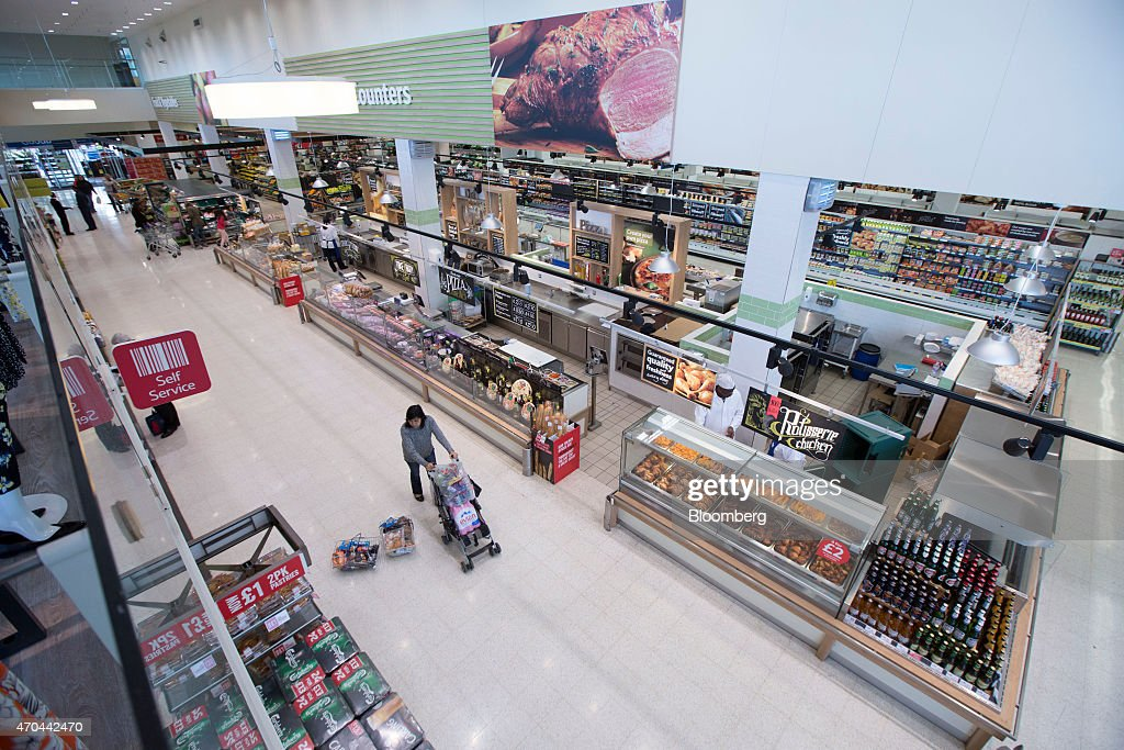 Retail Operations Inside A Tesco Plc Supermarket Grocery Store ...