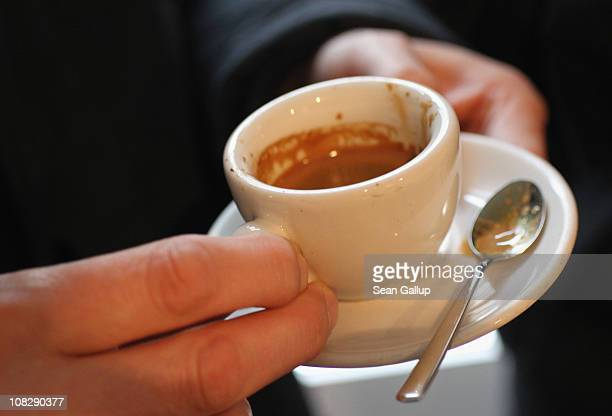 A customer samples freshlybrewed espresso at Bonanza Coffee Roasters on January 24 2011 in Berlin Germany Bonanza founder Kiduk Reus is among a...