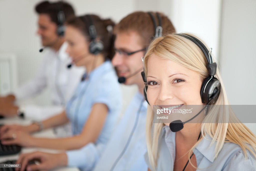Customer service operators : Stock Photo