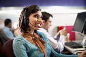 Customer Service Rep in Call Center