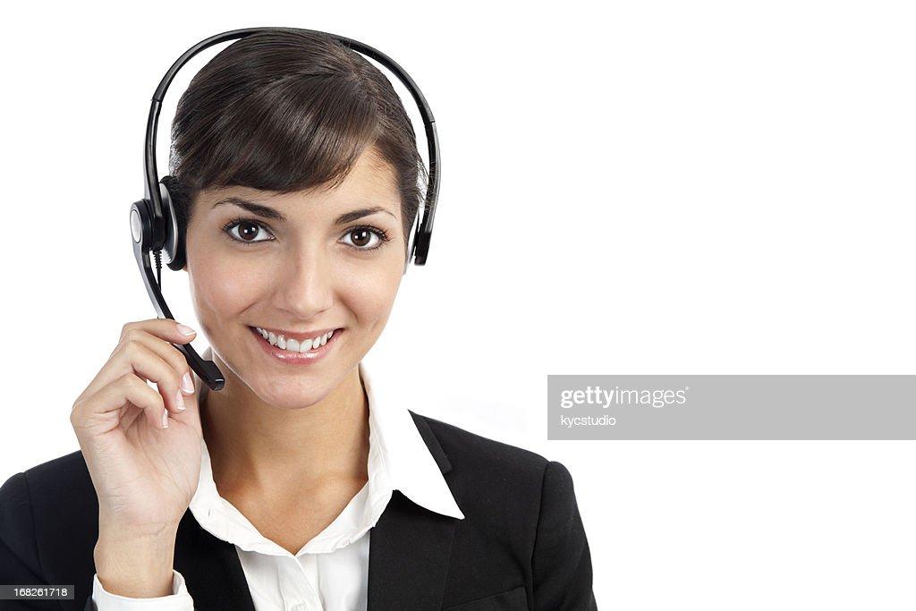 Customer service representative girl