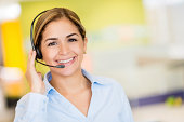 Business woman working as a customer service representative
