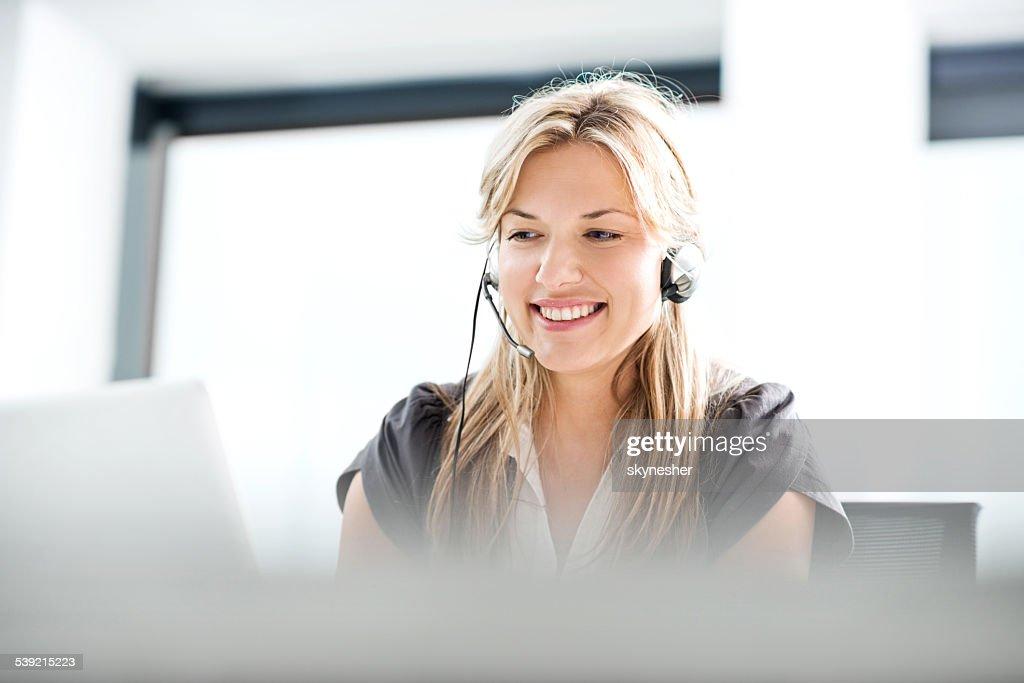 Customer service representative. : Stock Photo