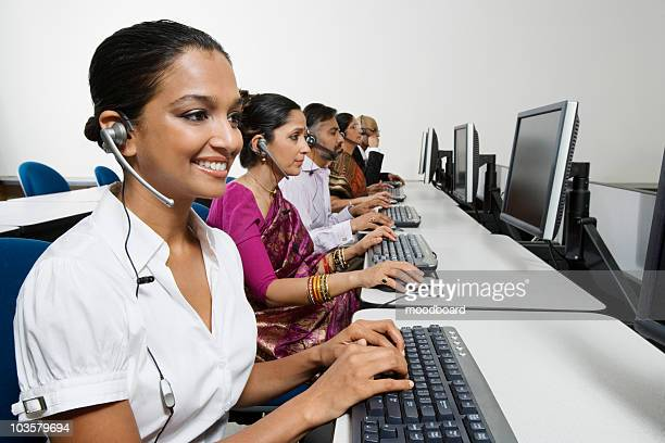 Customer Service Reps in Call Center