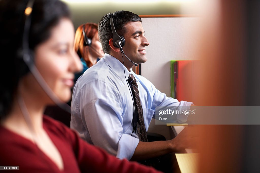 Customer Service Reps in Call Center