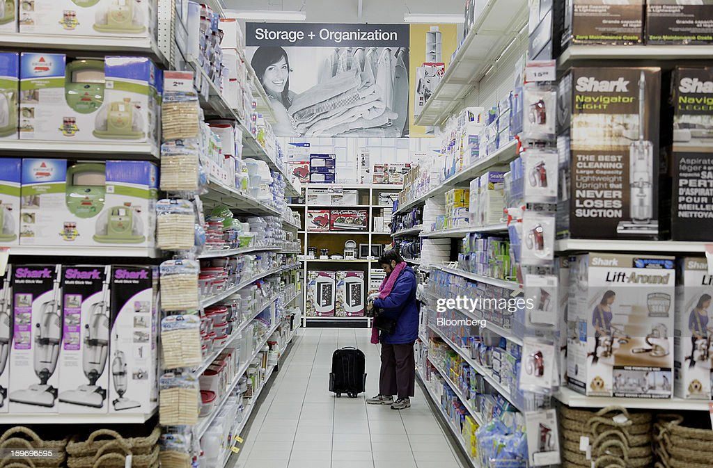 A customer shops at a Canadian Tire Corp. store in Toronto, Ontario, Canada, on Friday, Jan. 18, 2013. STCA - Statistics Canada is scheduled to release retail sales data on Jan. 21. Photographer: Reynard Li/Bloomberg via Getty Images