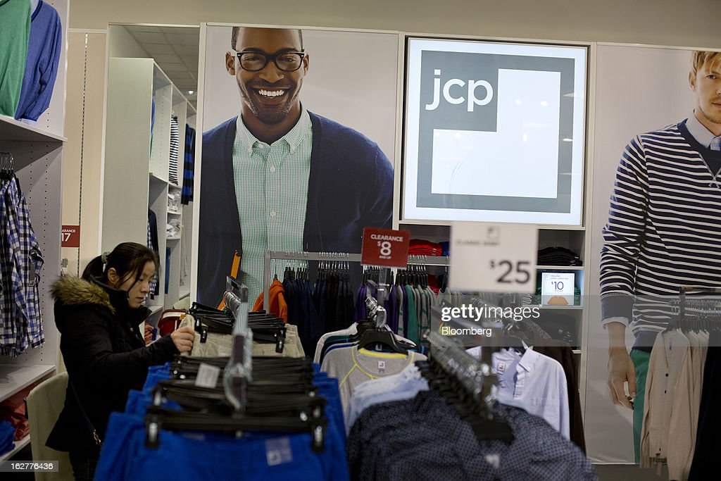 A customer shops for clothing at a J.C. Penney Co. store in the Queens borough of New York, U.S., on Tuesday, Feb. 26, 2013. Confidence among U.S. consumers jumped more than forecast in February as Americans adjusted to a higher payroll tax and signs of a recovering housing market spurred faith in the future. J.C. Penney Co. is scheduled to release earnings data on Feb. 27. Photographer: Victor J. Blue/Bloomberg via Getty Images