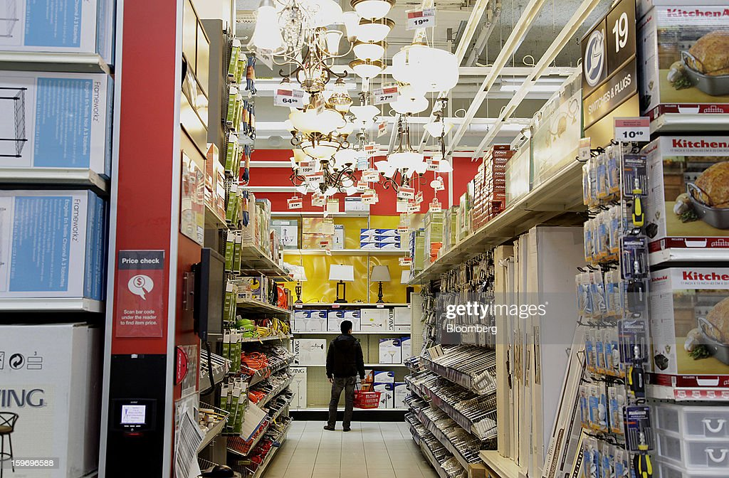 A customer shops in the lighting department at a Canadian Tire Corp. store in Toronto, Ontario, Canada, on Friday, Jan. 18, 2013. STCA - Statistics Canada is scheduled to release retail sales data on Jan. 21. Photographer: Reynard Li/Bloomberg via Getty Images