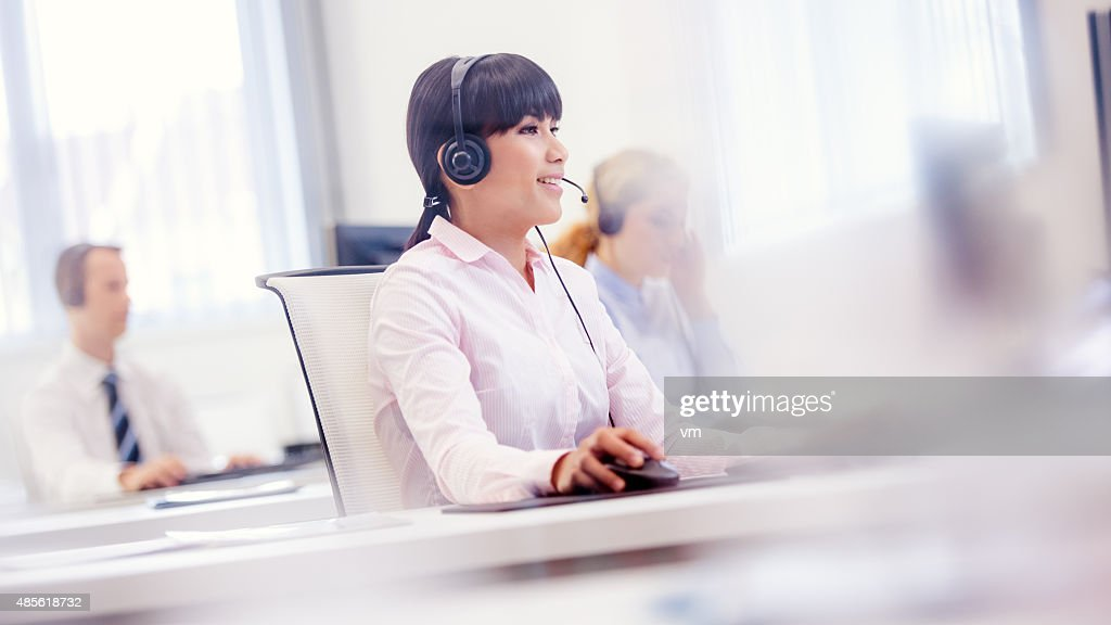 Customer support center : Stock Photo