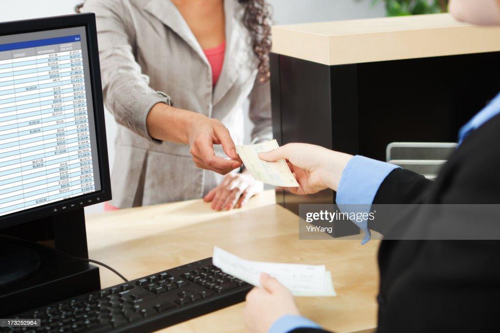 Customer Transaction in Retail Banking Counter Window Hz