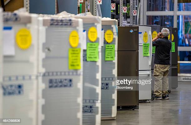 refrigerator lowes. a customer views refrigerator on sale at lowe\u0027s cos store in san bruno california lowes l