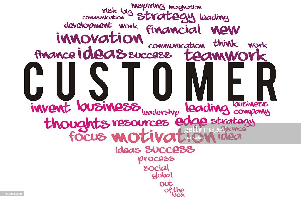 Customer  wordcloud concept : Stock Photo