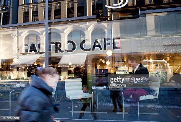 Customers are seen in a Gastro Cafe coffee store in Oslo Norway on Wednesday Dec 1 2010 Norwegian manufacturing expanded last month at the fastest...
