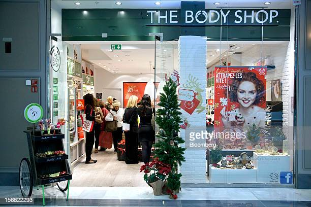 Customers are seen inside the Body Shop store owned by L'Oreal SA at the So Ouest Shopping Mall in Paris France on Wednesday Nov 21 2012 Body Shop...