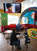 Customers at a McDonalds restaurant in Norwalk CA are now able to watch McTV The global fastfood chain is launching the McDonald's Channel a digital...