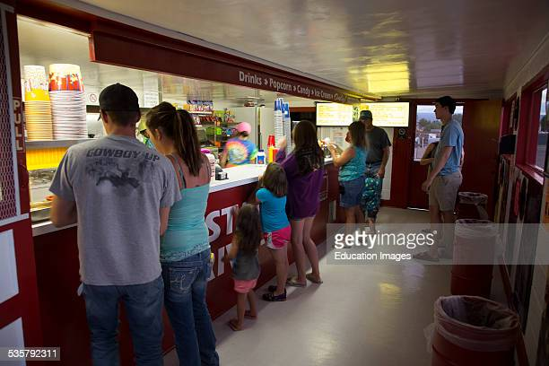Customers at Candy Counter Star Drive In Movie Theater Montrose Colorado
