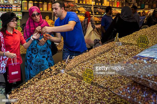 Customers at shop in the Spice Market