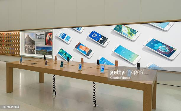 Customers await the Apple iPhone 7 launch at Mall of the Emirates on September 17 2016 in Dubai United Arab Emirates