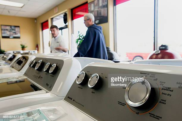 Customers browse appliances for sale at the Jessup's Appliances store in Sarasota Florida US on Friday Jan 24 2014 The US Census Bureau is scheduled...