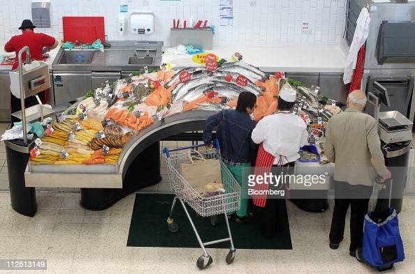 Inside a tesco store as company 39 s full year earnings for The fresh fish company