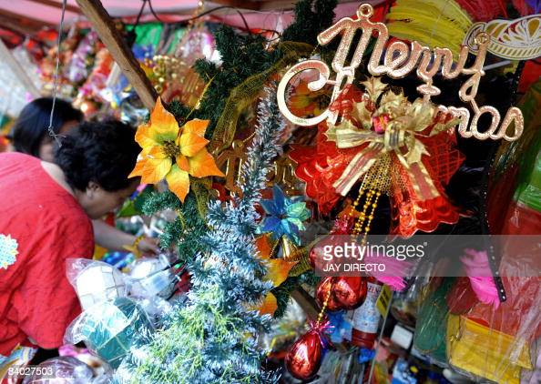 customers buy christmas decor along the pictures getty images