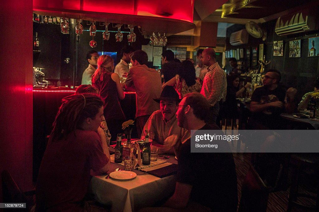 Customers Enjoy Their Drinks At The Living Room Bar In The Hauz Khas Area  In New Part 45
