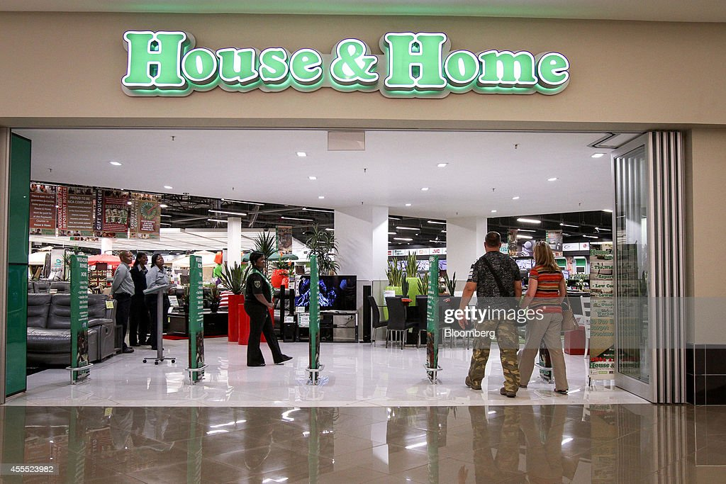 customers enter a house u0026 home furniture store operated by shoprite holdings ltd