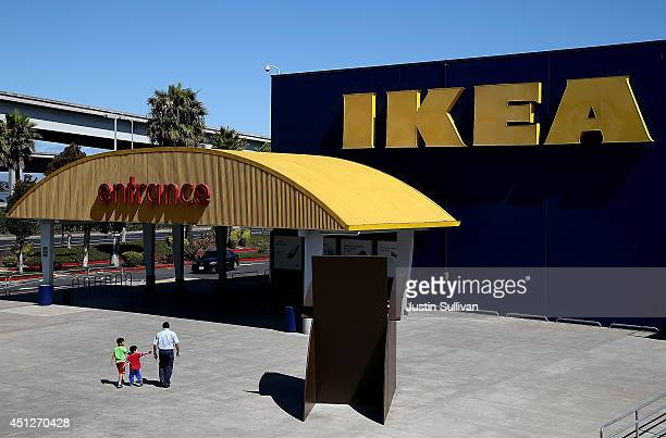 Customers enter an IKEA store on June 26 2014 in Emeryville California Swedish furniture retailer IKEA announced that it plans to raise the minimum...