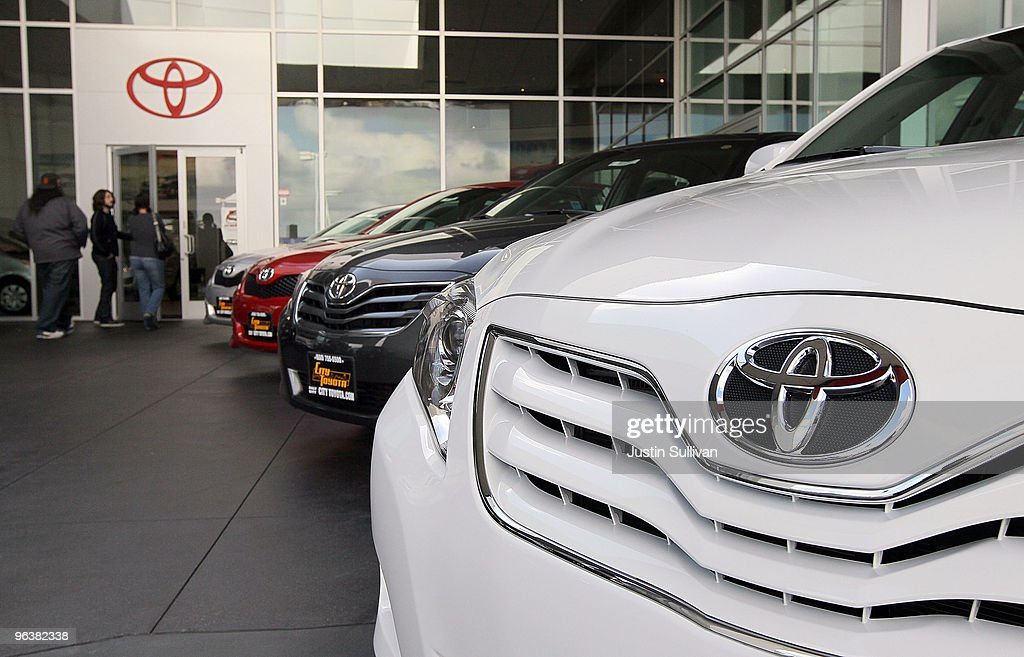 Customers enter the showroom at City Toyota February 3 2010 in Daly City California Toyota is being pressured by US Transportation Secretary Ray...