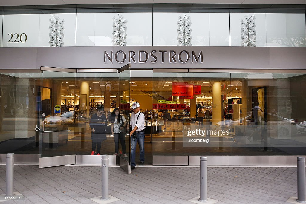 Customers exit a Nordstrom Inc. department store in Santa Monica, California, U.S., on Tuesday, Nov. 12, 2013. Nordstrom Inc. is scheduled to release earnings figures on Nov. 14. Photographer: Patrick T. Fallon/Bloomberg via Getty Images
