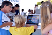 Customers get hands on with Windows 8 and enjoy a $50 gift card with purchase of any convertible laptops at the grand opening celebration of the new...