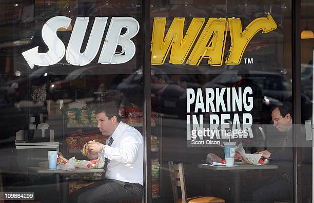 Customers have lunch in a Subway restaurant on March 8 2011 in Chicago Illinois With 34225 restaurants in 95 countries Subway has surpassed McDonalds...