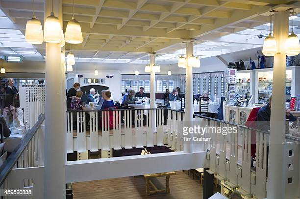 Customers in the Willow Tearooms and Gift Shop designed by Charles Rennie Mackintosh in 1903 in Sauciehall Street Glasgow Scotland UK