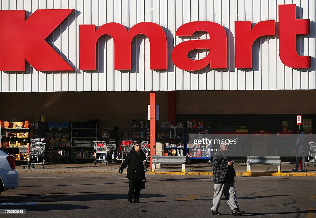 Customers leave a Kmart store on November 14, 2012 in Chicago, Illinois. Sears Holdings (SHLD), which owns Kmart, will report 3rd quarter earnings tomorrow afternoon. After a lackluster 2011 holiday season the retailer announced plans to close 120 Sears and Kmart stores.